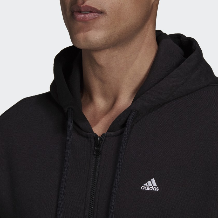 adidas Sportswear Comfy and Chill Full Zip Hoodie Black H45369 41 detail