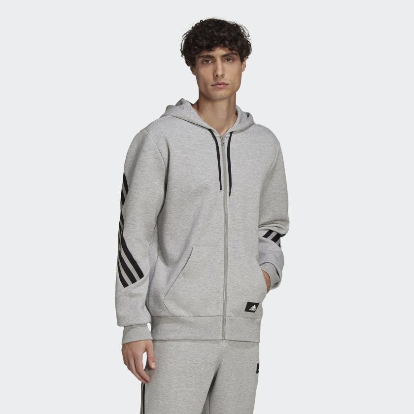 adidas Sportswear Future Icons 3 Stripes Hoodie Grey H39780 21 model