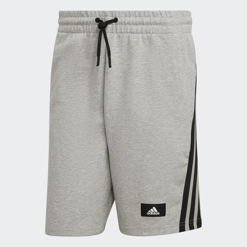 adidas Sportswear Future Icons 3 Stripes Shorts Grey H39777 01 laydown