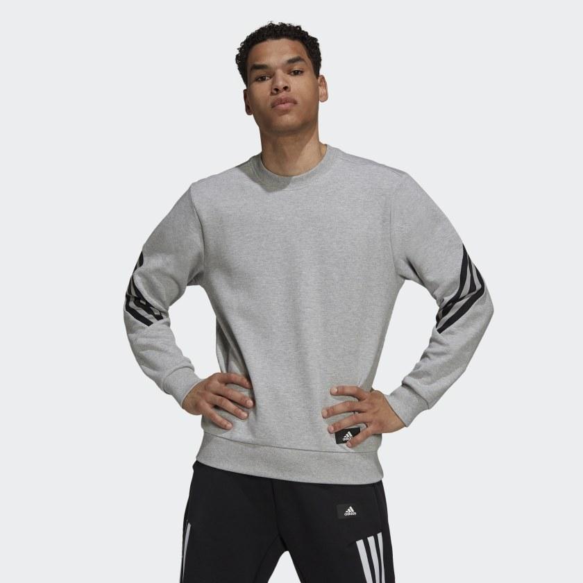 adidas Sportswear Future Icons 3 Stripes Sweatshirt Grey HB1418 21 model