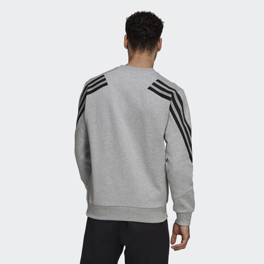 adidas Sportswear Future Icons 3 Stripes Sweatshirt Grey HB1418 23 hover model