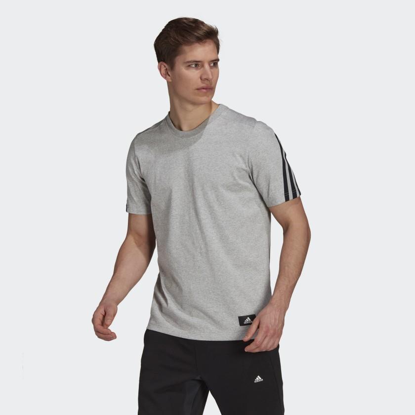 adidas Sportswear Future Icons 3 Stripes Tee Grey H39784 21 model