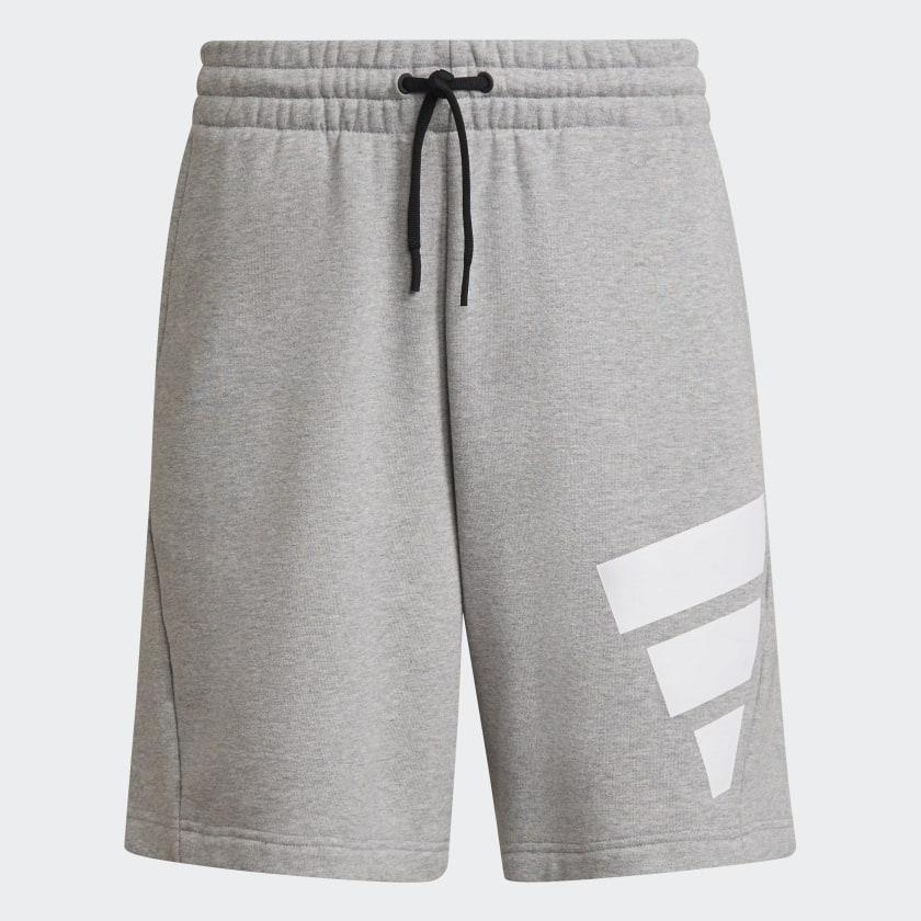 adidas Sportswear Future Icons Logo Graphic Shorts Grey GR4109 01 laydown