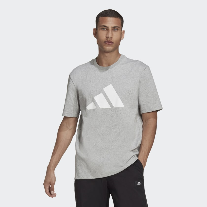 adidas Sportswear Future Icons Logo Graphic Tee Grey HA7682 21 model