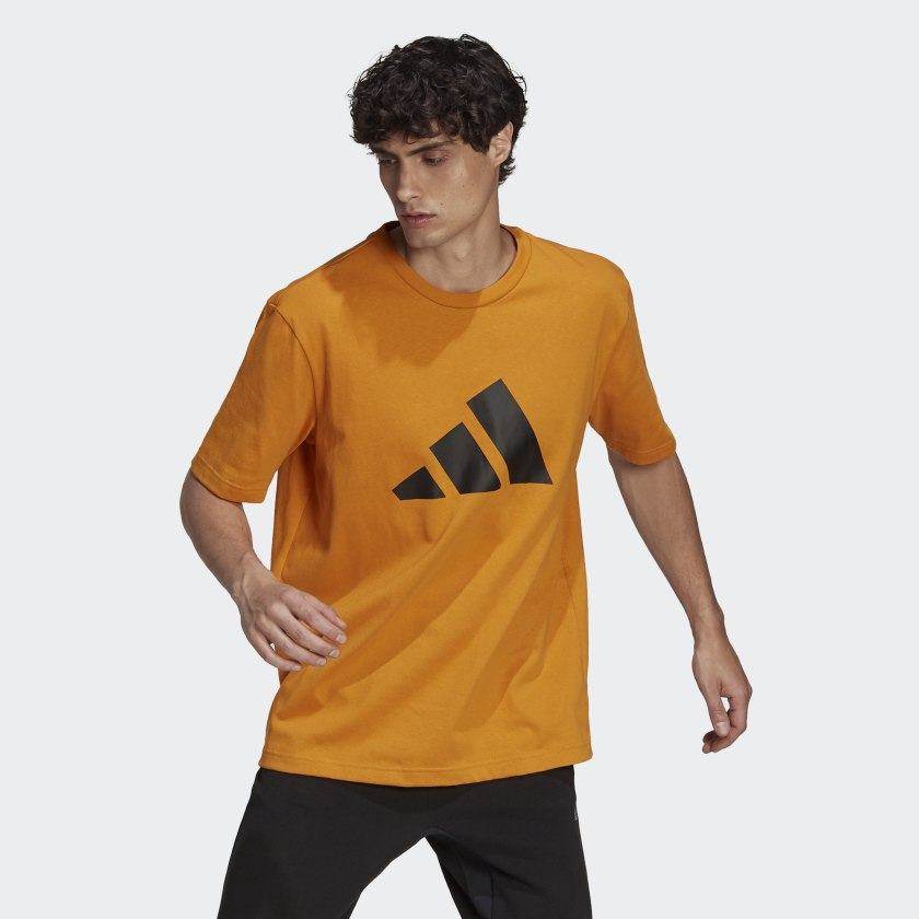adidas Sportswear Future Icons Logo Graphic Tee Orange H39750 21 model