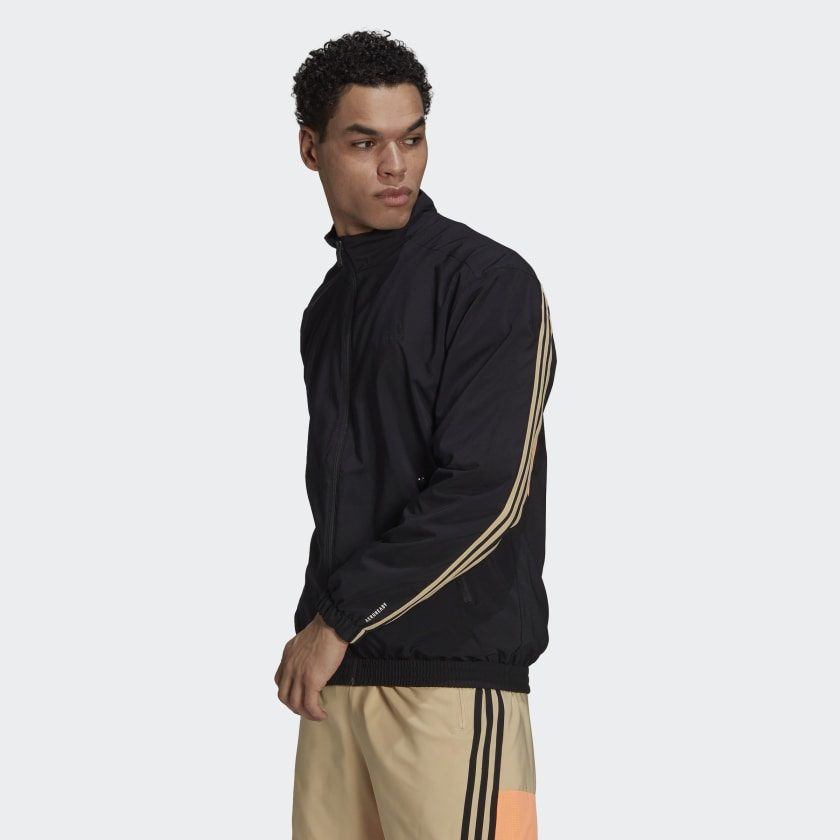 adidas Sportswear Woven 3 Stripes Track Top Black GP2649 21 model