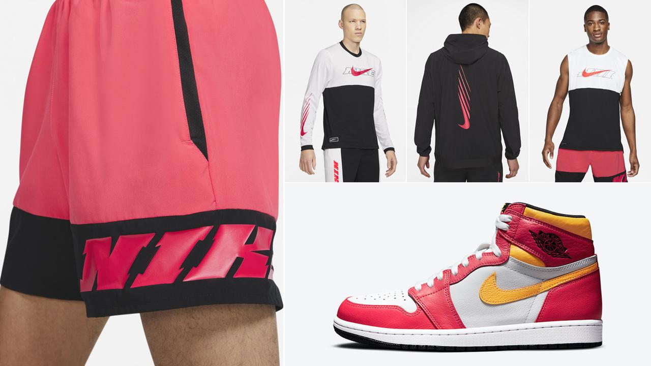 air-jordan-1-light-fusion-red-nike-shirt-clothing-outfits