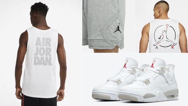 air-jordan-4-tech-grey-white-oreo-outfit-tank-top-shorts
