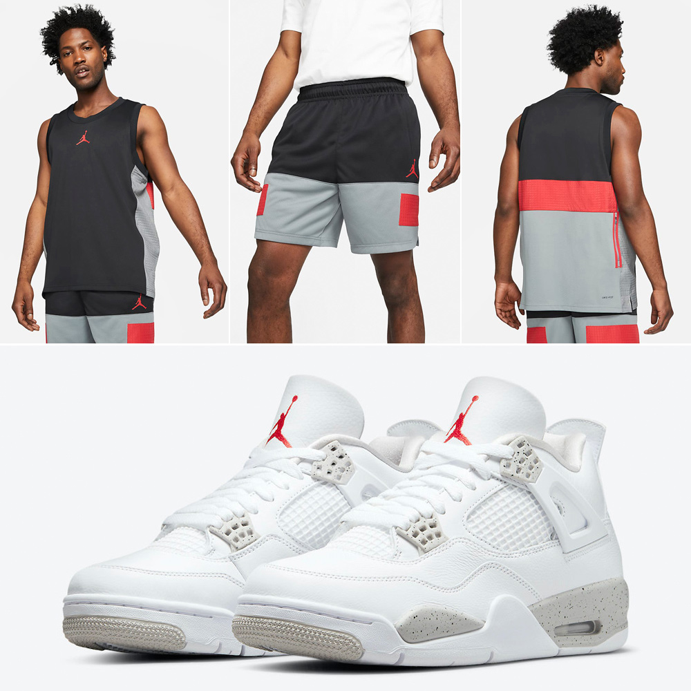 air-jordan-4-white-oreo-jersey-shorts-outfit
