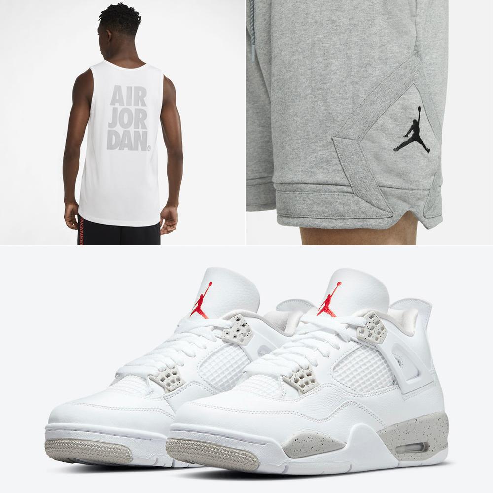 air-jordan-4-white-oreo-tank-tops-shorts-match