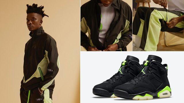air-jordan-6-electric-green-track-jacket-shorts-pants