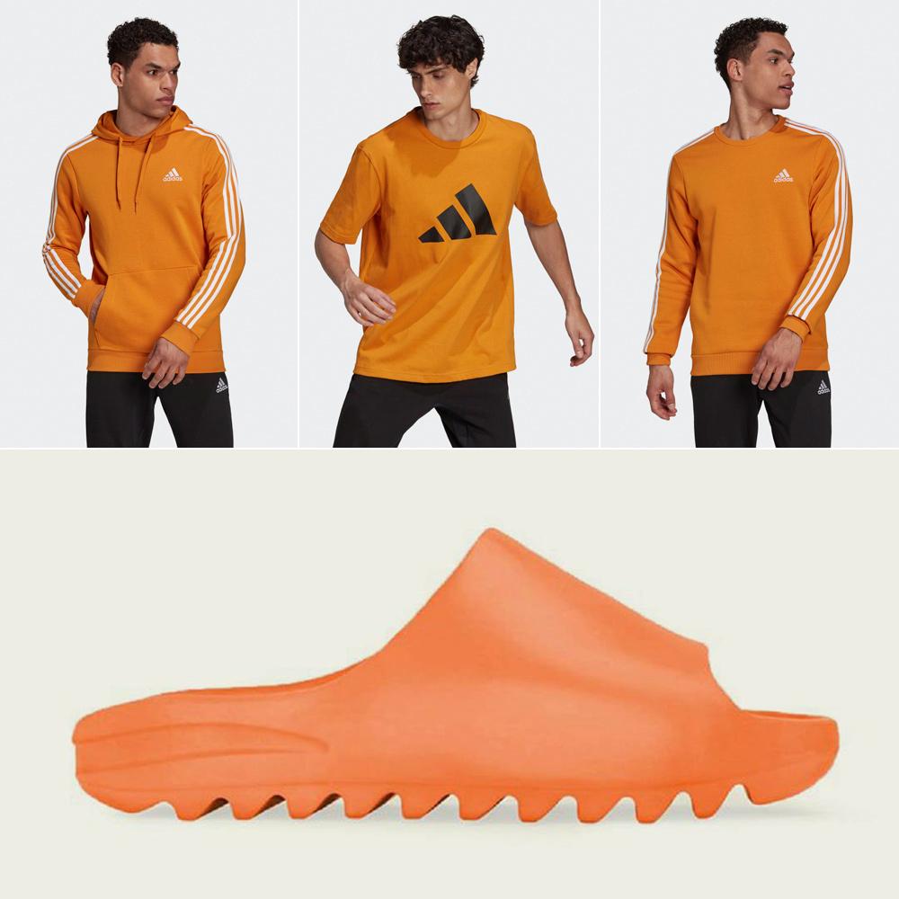enflame-orange-yeezy-slides-shirt-clothing-match