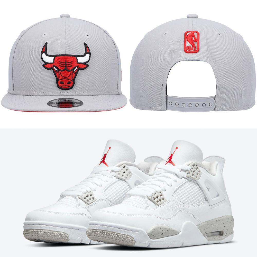 jordan-4-white-oreo-tech-grey-hat-match