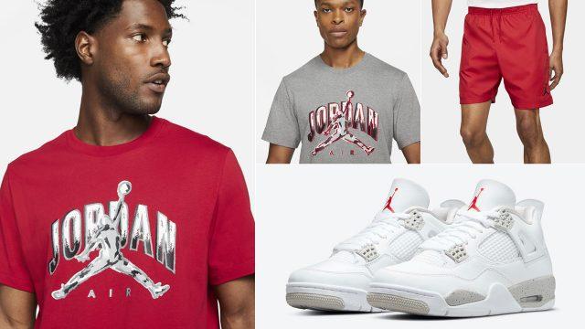 jordan-4-white-oreo-tech-grey-shirt-shorts-outfit