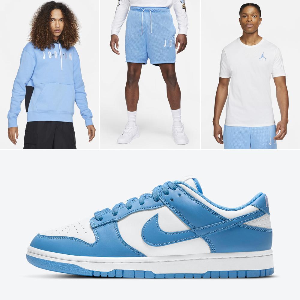 nike-dunk-low-university-blue-shirt-shorts-clothing