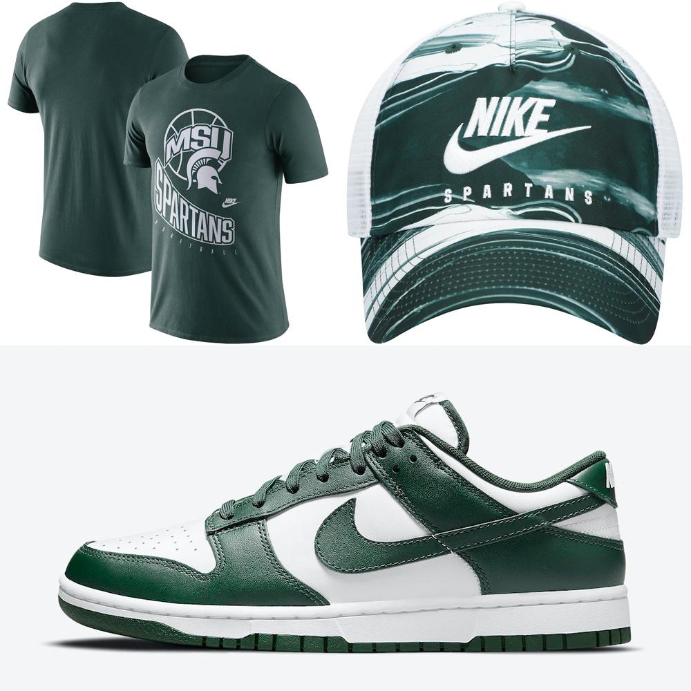 nike-dunk-low-varsity-green-michigan-spartans-shirt-hat
