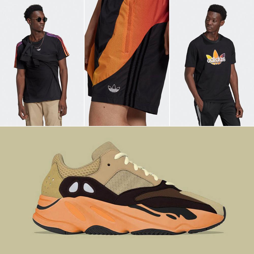 yeezy-700-enflame-orange-shirts-shorts-outfits