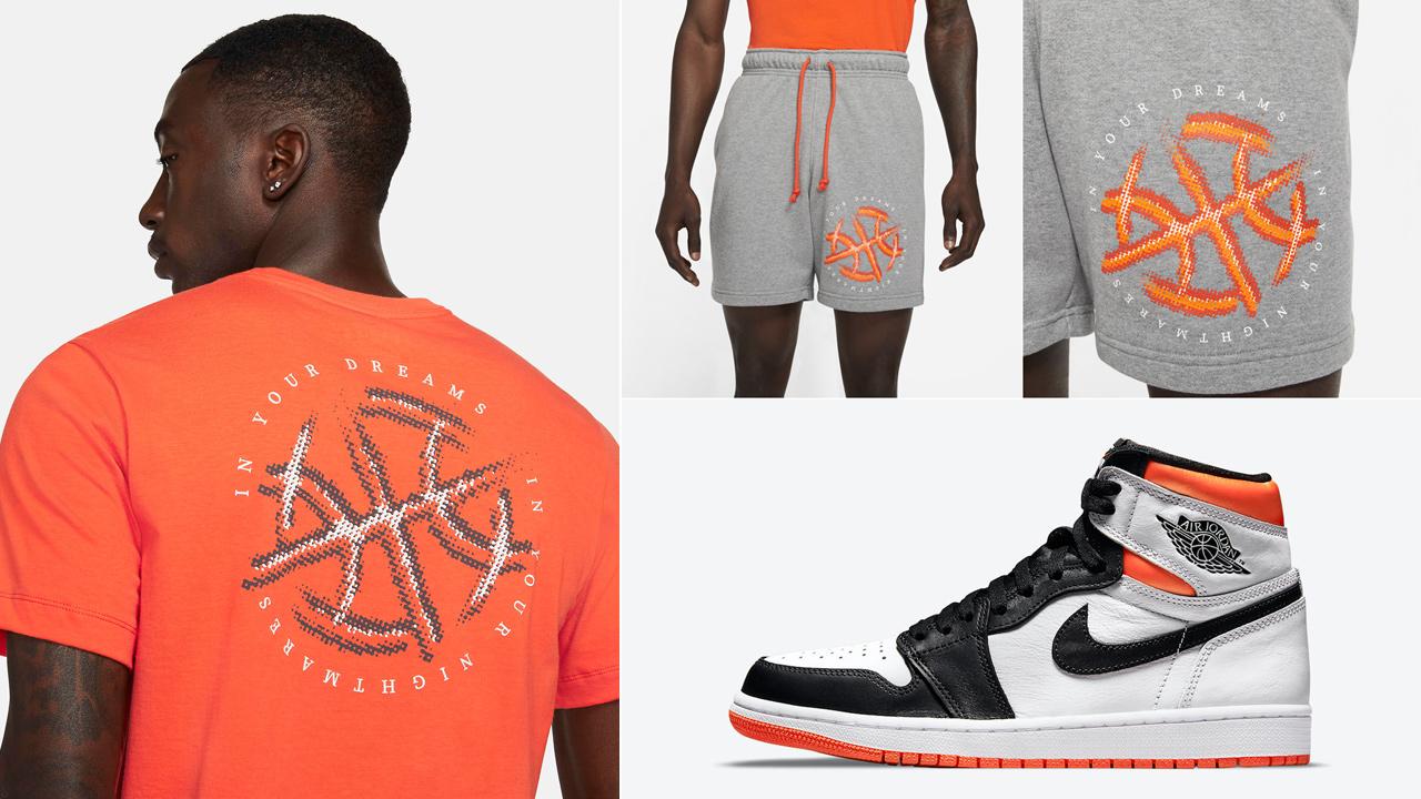 air-jordan-1-high-electro-orange-shirt-shorts-outfit