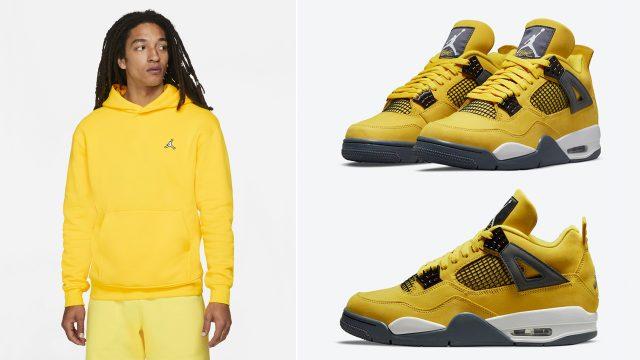 air-jordan-4-lightning-2021-yellow-hoodie
