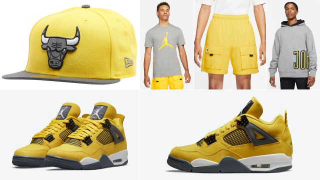 air-jordan-4-lightning-shirt-hat-clothing-outfits