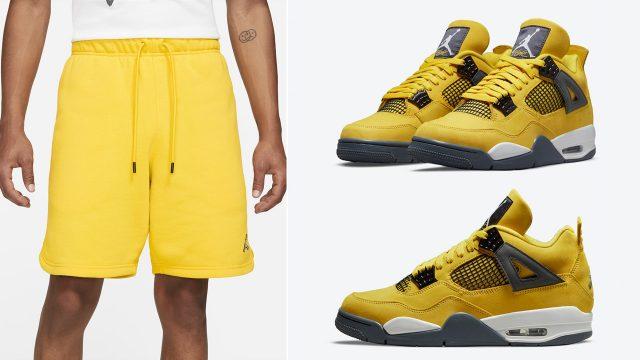 air-jordan-4-lightning-tour-yellow-shorts