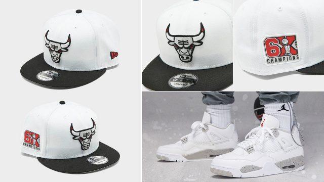 air-jordan-4-white-oreo-tech-grey-bulls-hat