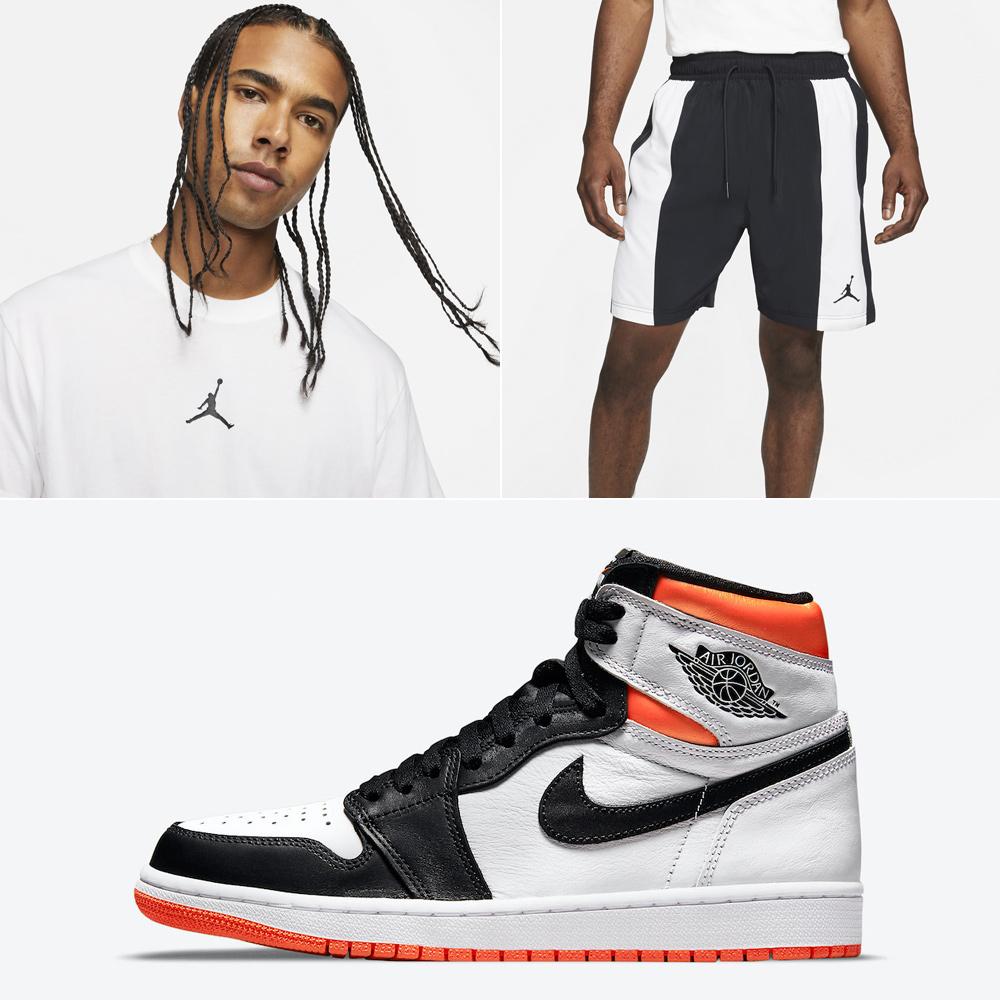 jordan-1-high-electro-orange-shirt-shorts-outfit