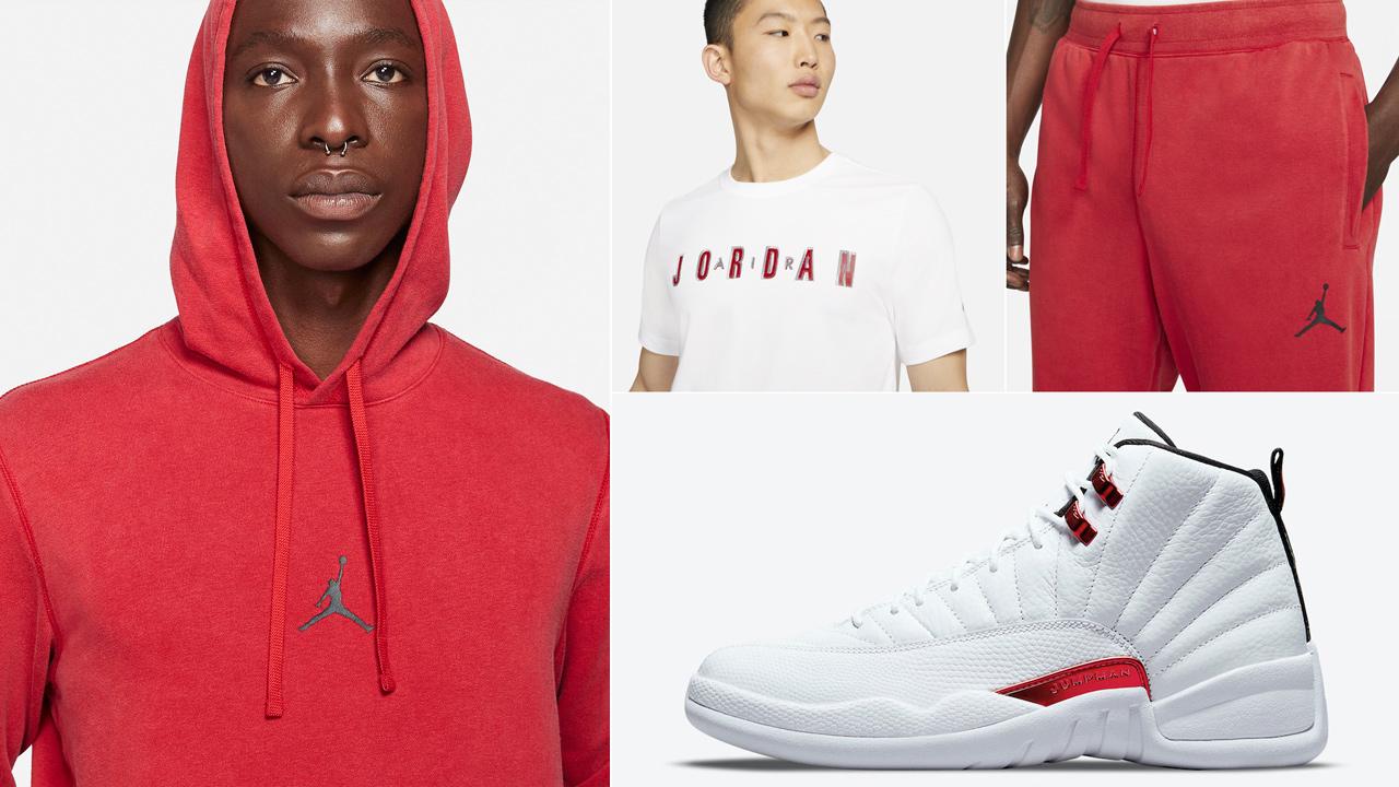 jordan-12-twist-metallic-red-shirt-clothing-outfits