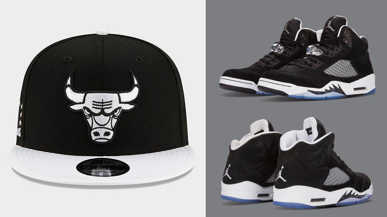 jordan-5-oreo-new-era-bulls-snapback-hat