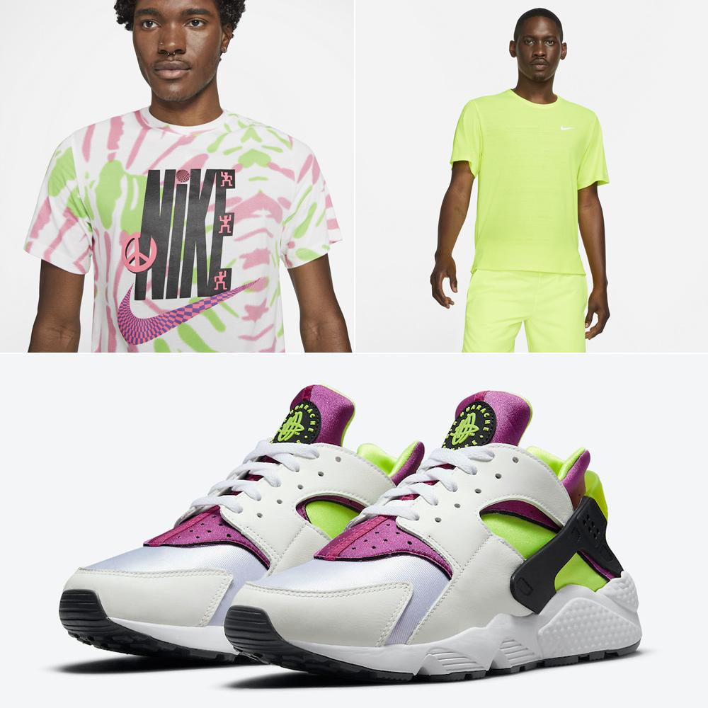 nike-air-huarache-neon-yellow-magenta-shirts-clothing