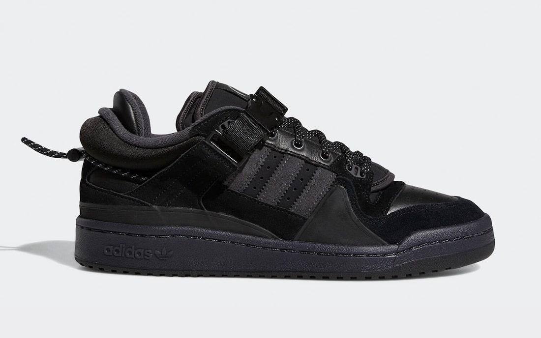 Bad-Bunny-adidas-Forum-Buckle-Low-Black-GW5021-Release-Date