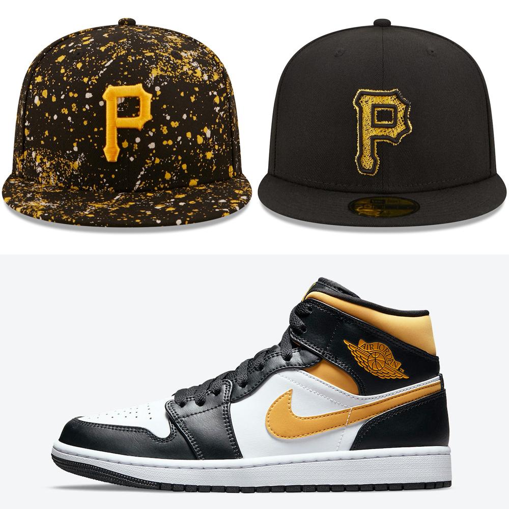 air-jordan-1-mid-pollen-hats-to-match