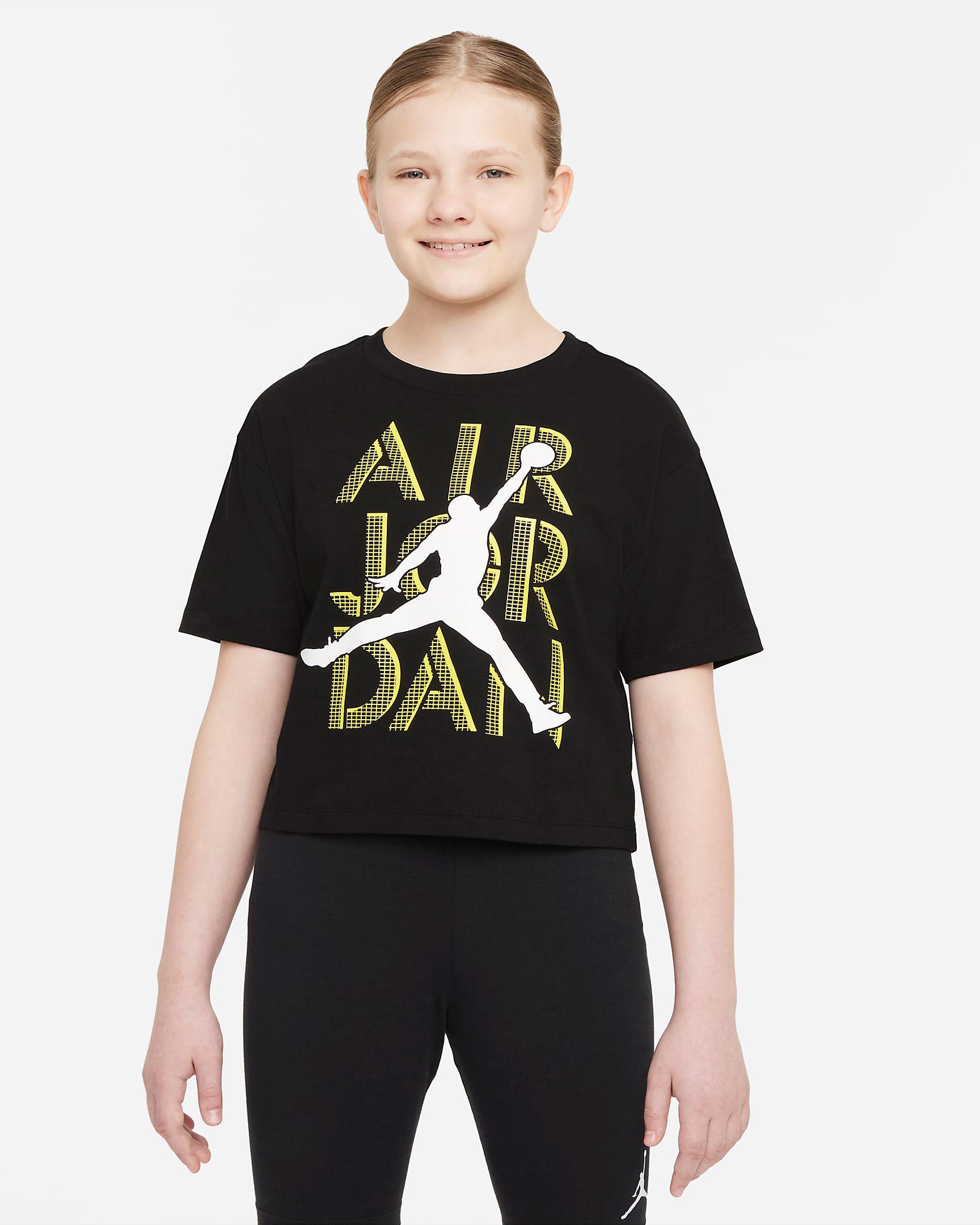 air-jordan-4-lightning-kids-girls-t-shirt