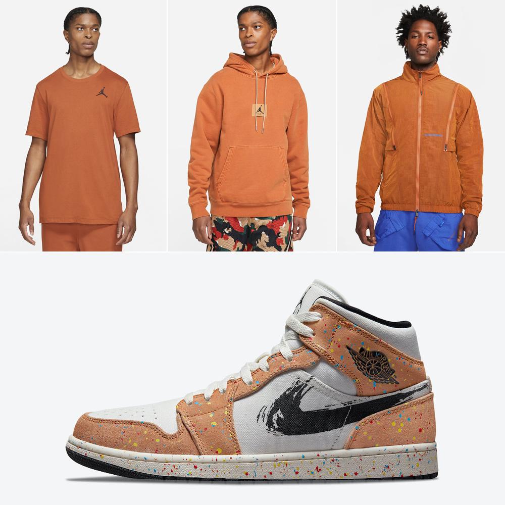 jordan-1-mid-cider-brushstroke-paint-splatter-shirts-apparel