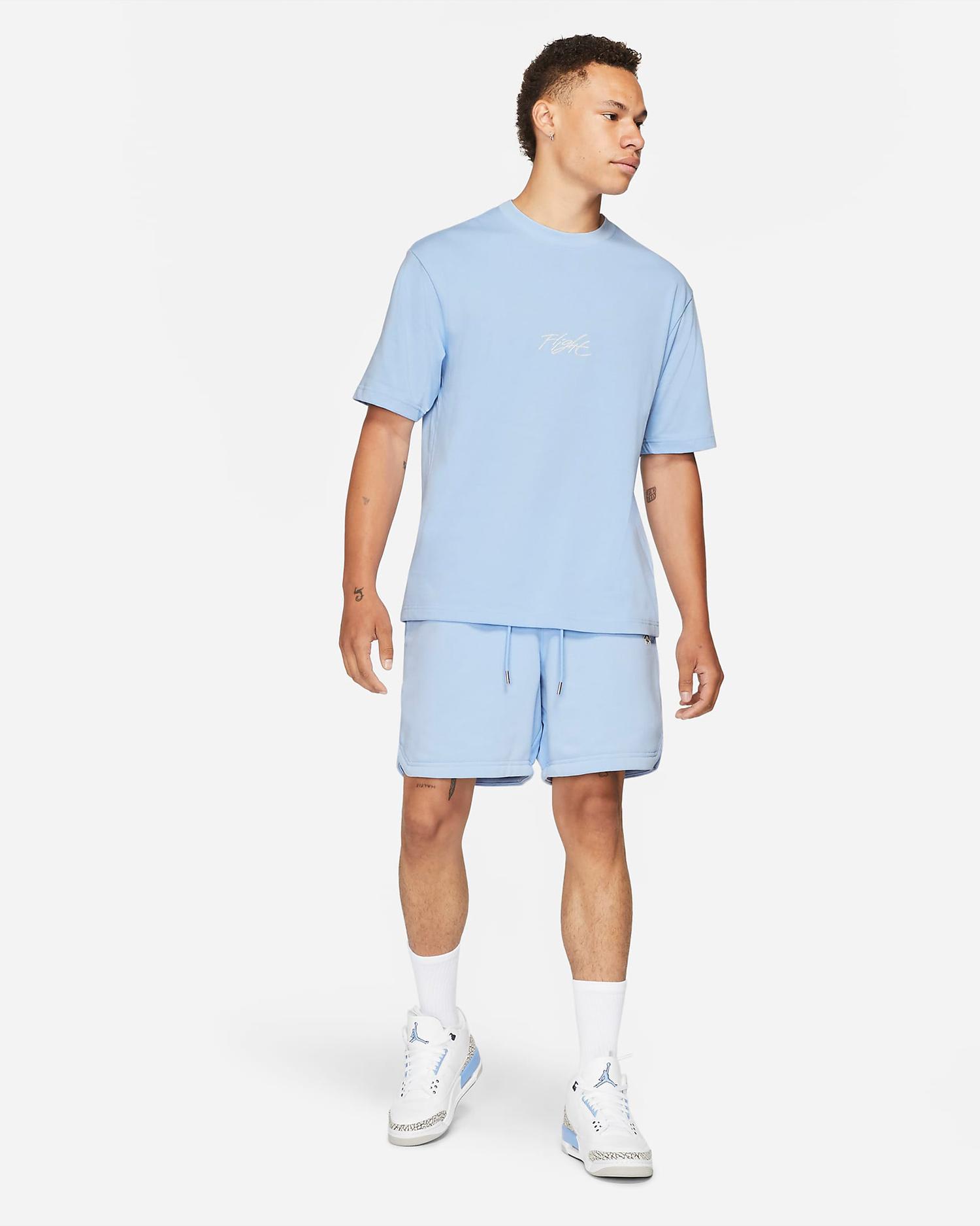 jordan-aluminum-blue-shirt-shorts-outfit