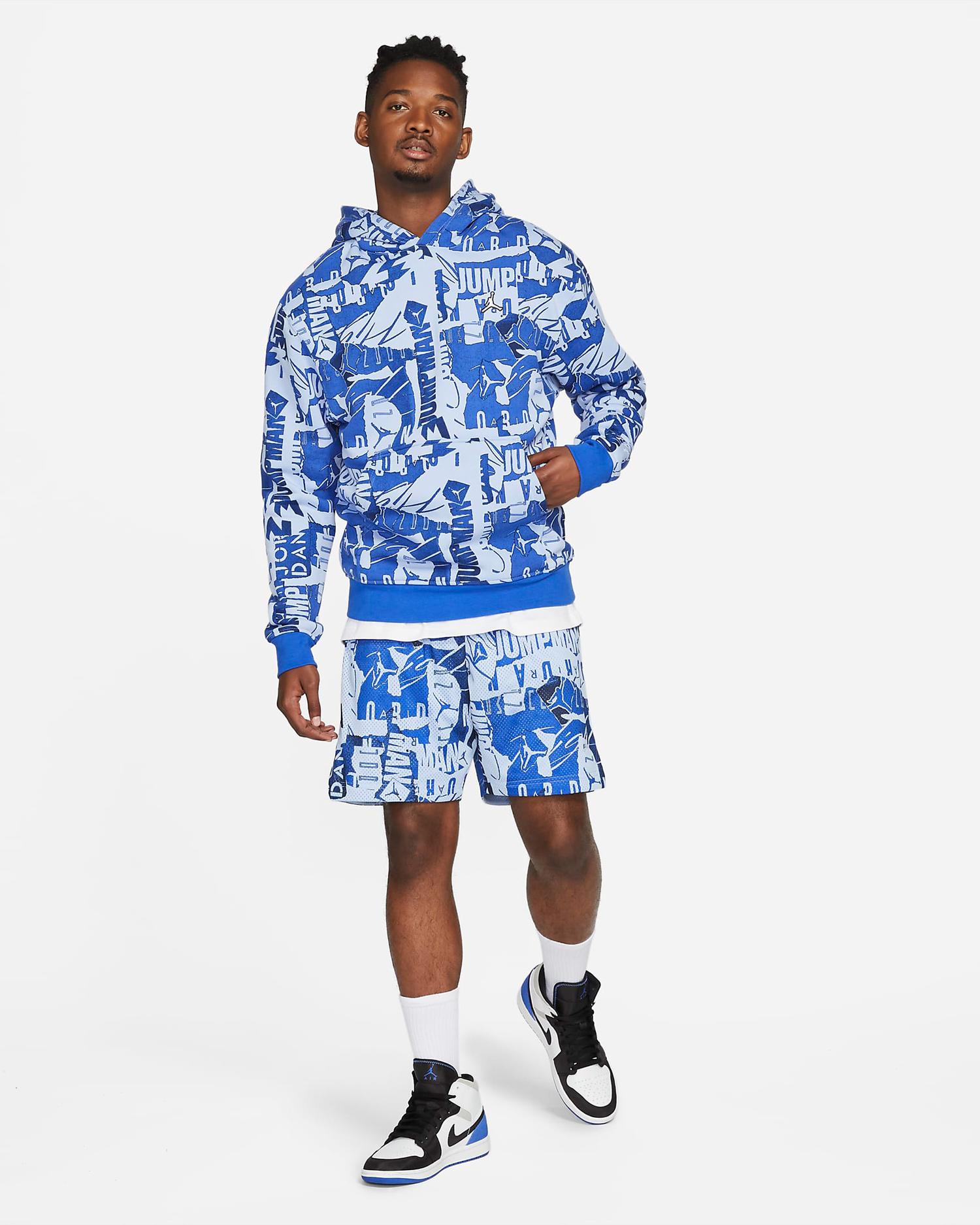 jordan-aluminum-royal-blue-hoodie-shorts-outfit