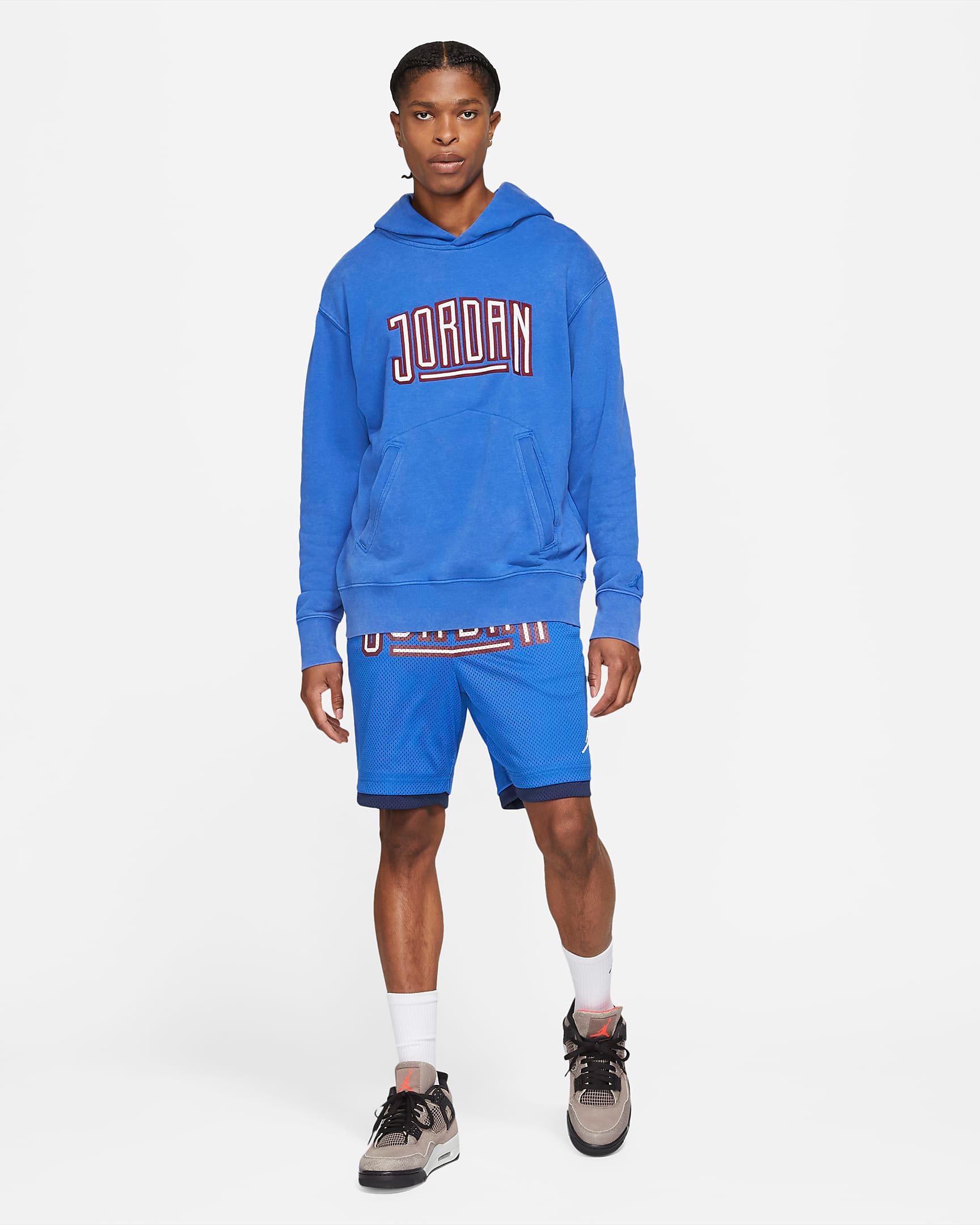 jordan-game-royal-sport-dna-hoodie-shorts-outfit