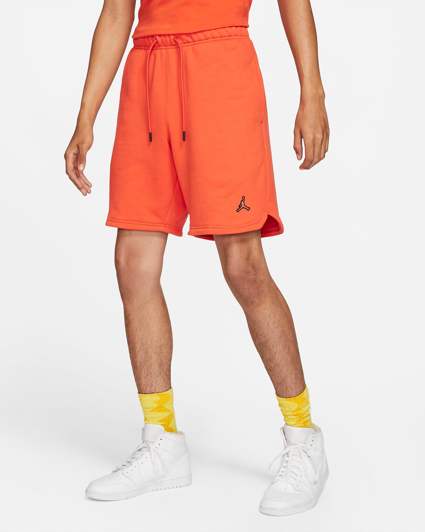 jordan-orange-essential-fleece-shorts-1