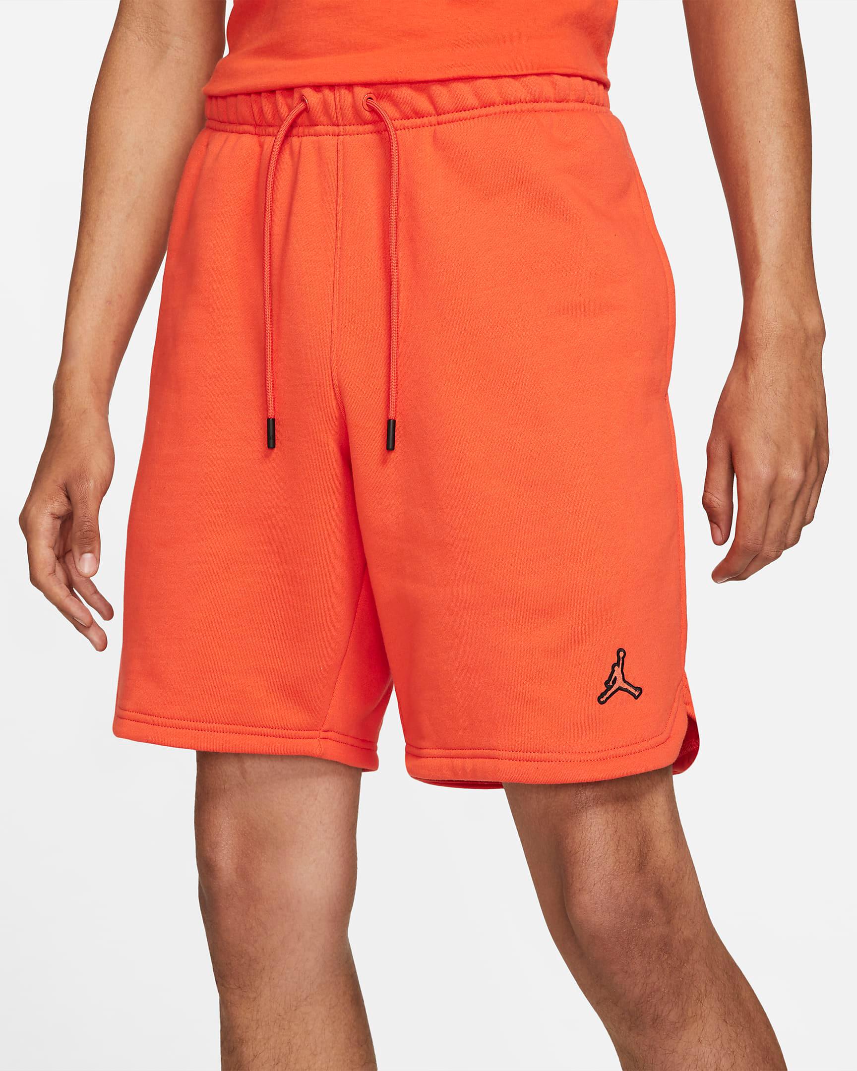 jordan-orange-essential-fleece-shorts-2