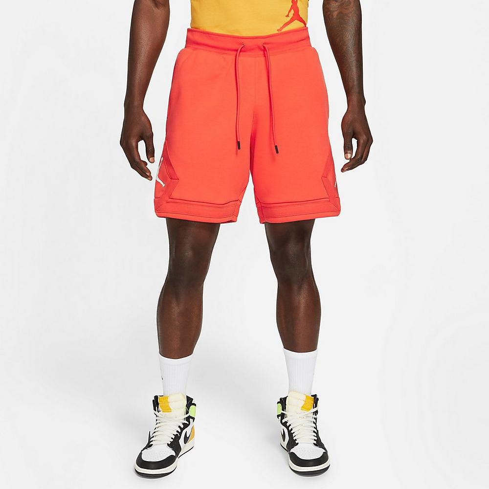 jordan-orange-jumpman-diamond-shorts