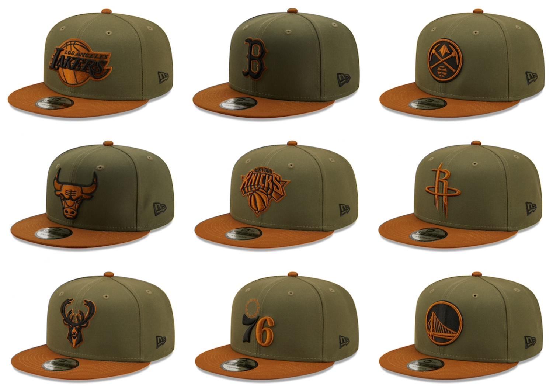 new-era-nba-olive-brown-snapback-hats