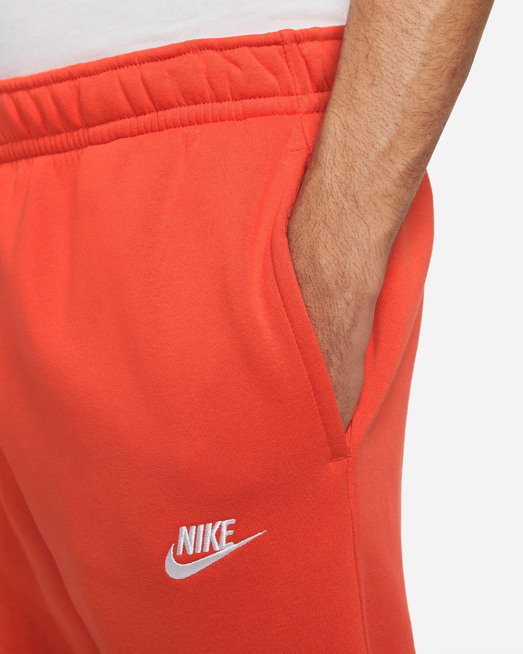 nike club fleece orange jogger pants 2