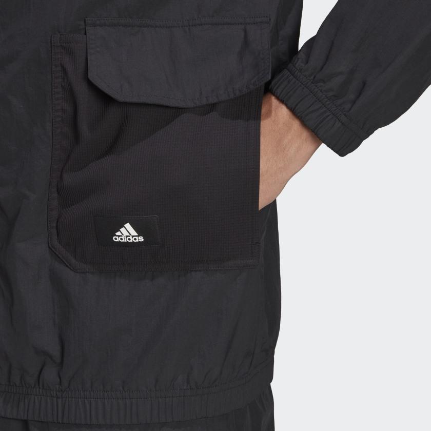 adidas Sportswear Future Icons Corduroy Full Zip Hoodie Black H65370 42 detail