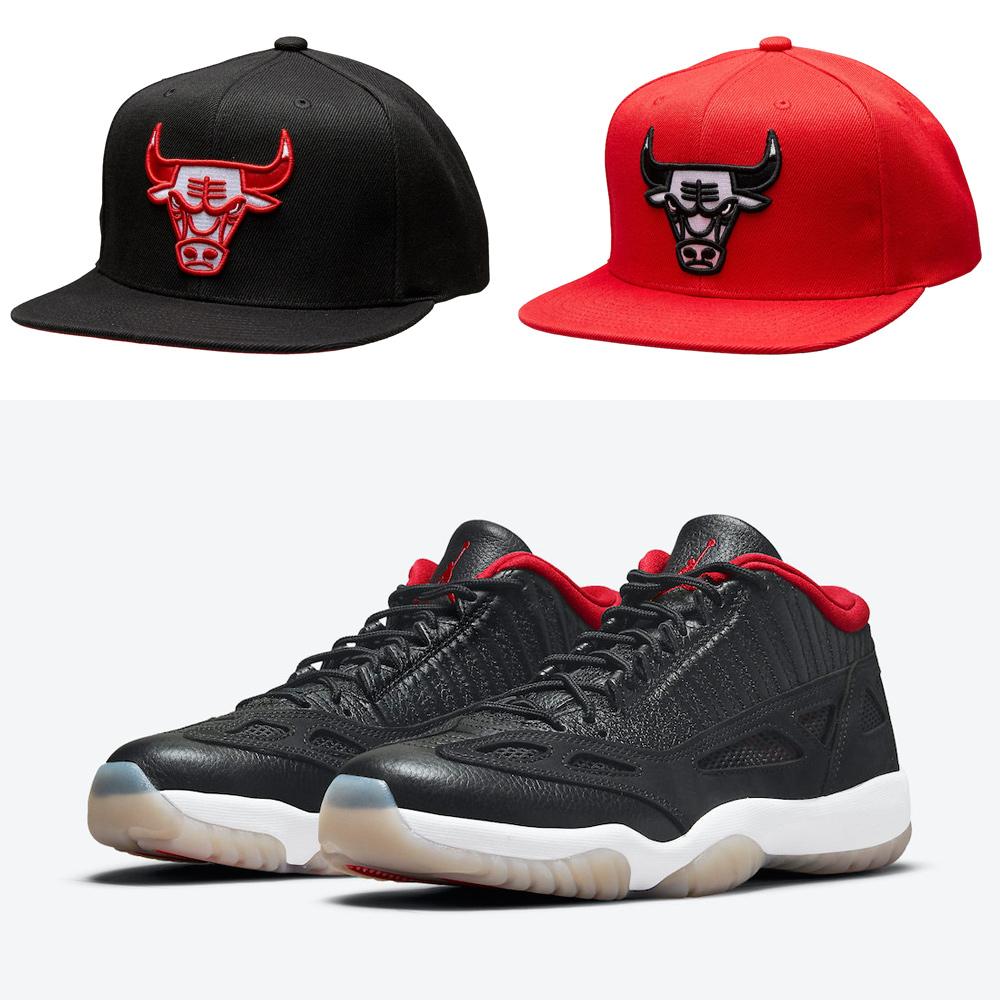 air-jordan-11-low-ie-bred-bulls-hats