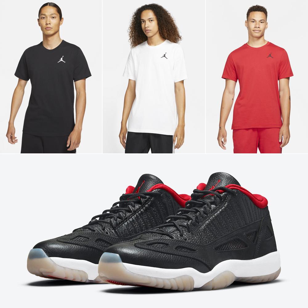 air-jordan-11-low-ie-bred-matching-shirts