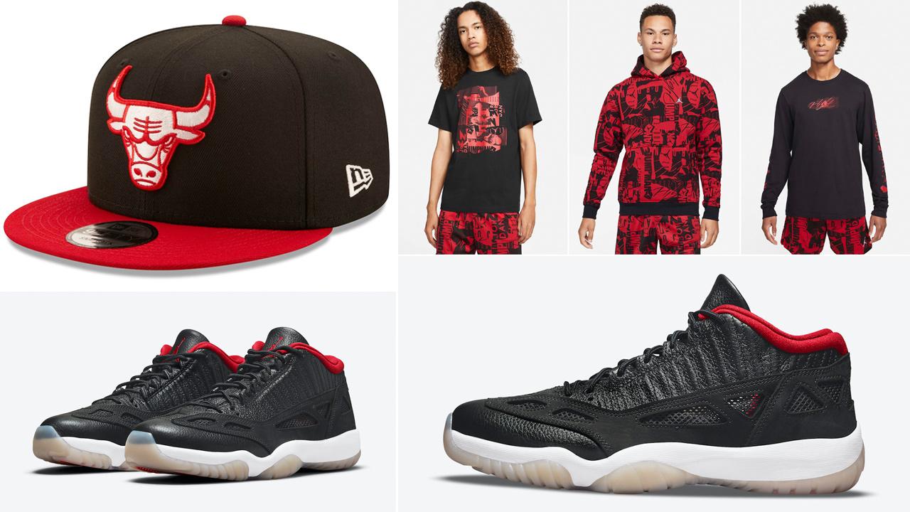 air-jordan-11-low-ie-bred-shirt-hat-outfits