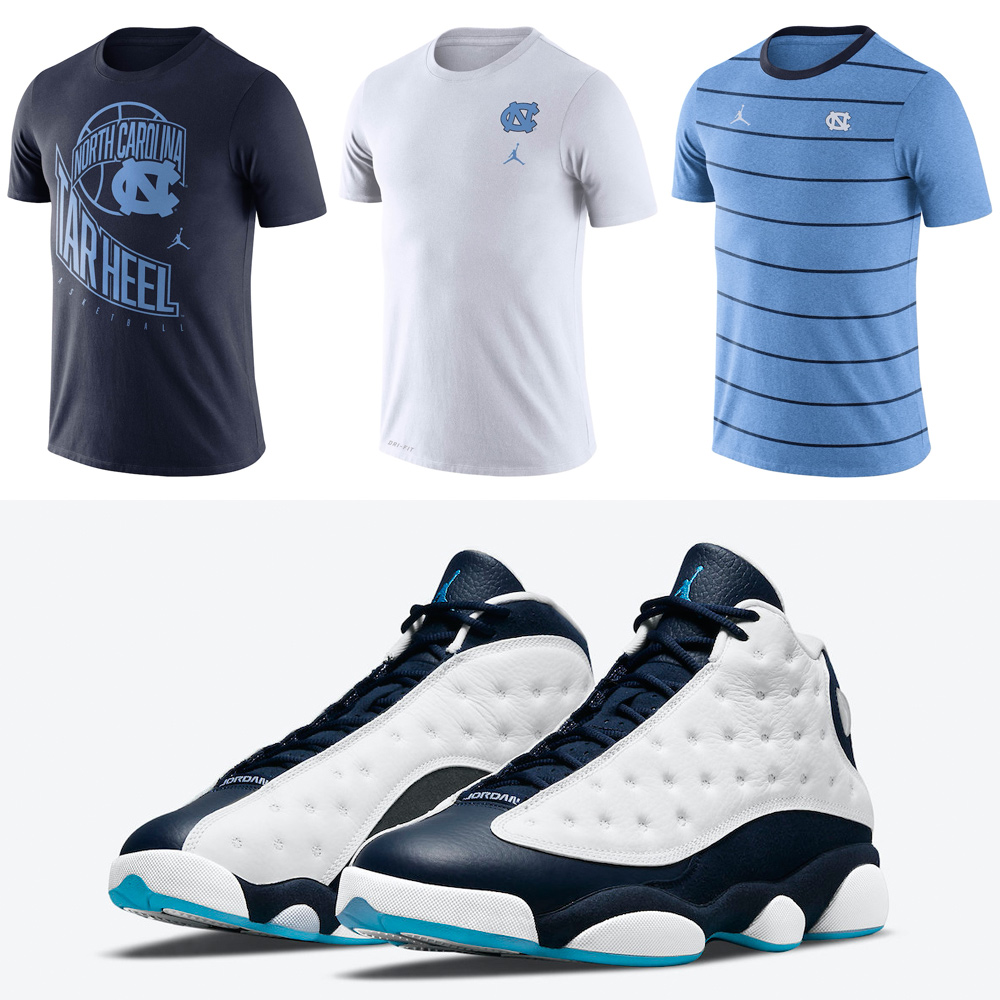 air-jordan-13-obsidian-dark-powder-blue-unc-shirts