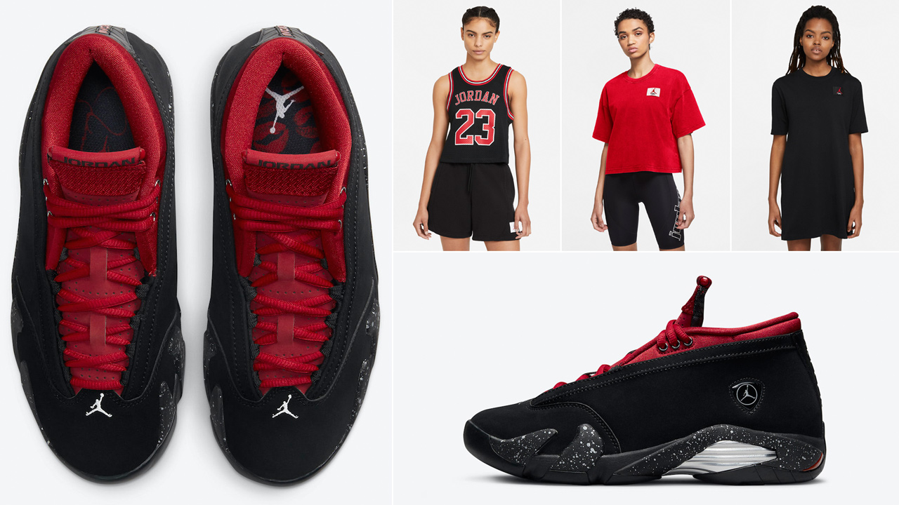 air-jordan-14-low-red-lipstick-shirts-clothing-outfits