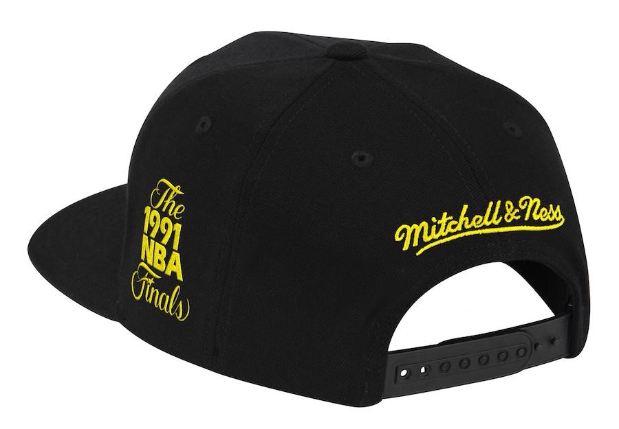 air-jordan-4-lightning-bulls-snapback-hat-black-yellow-2