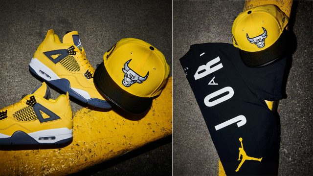 air-jordan-4-lightning-hat-shirt-outfit
